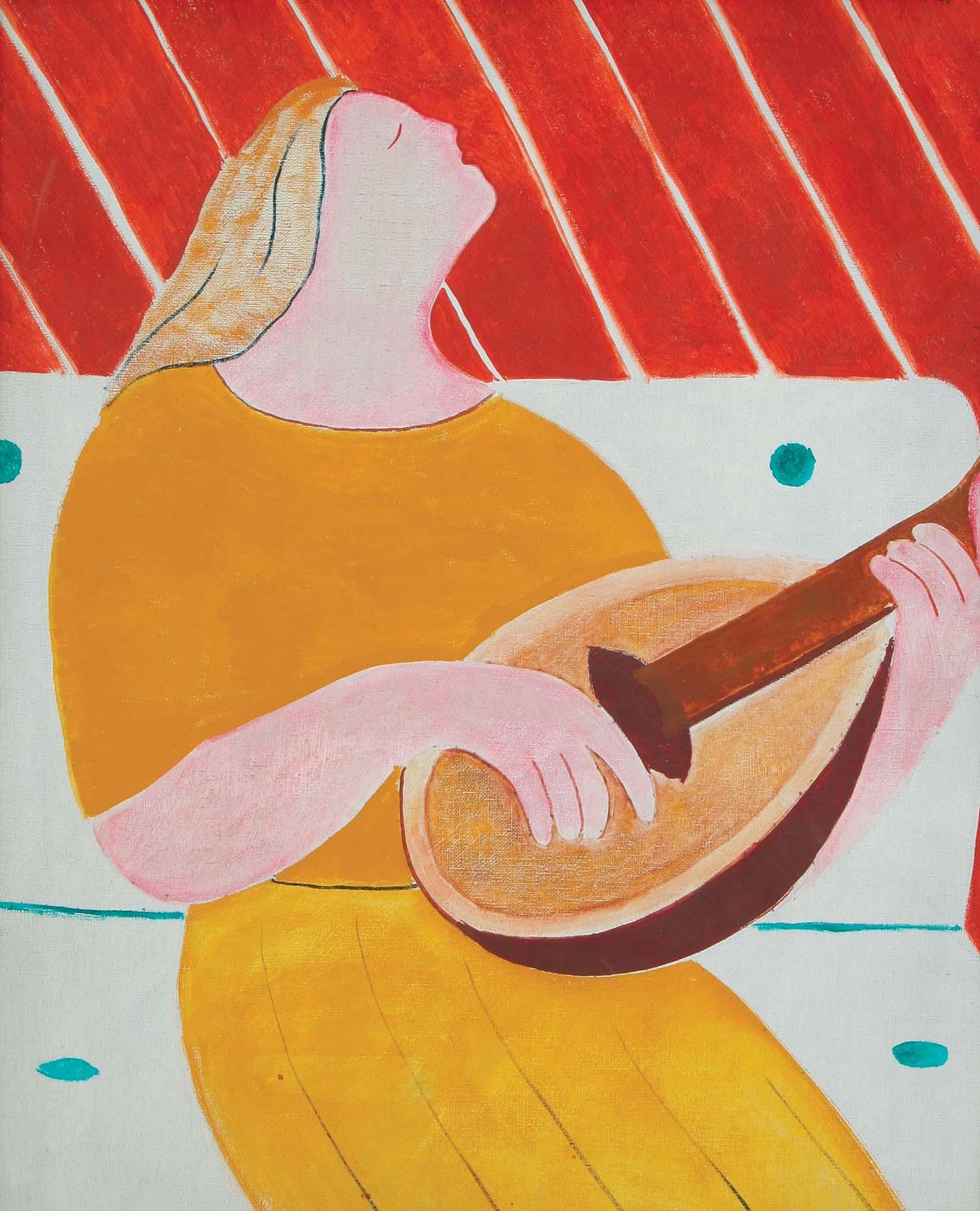 Figura con mandolina